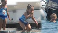 Pınar Altuğ'un kızı Su'yun denizle imtihanı!