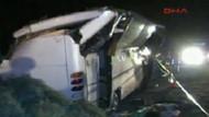 Sarıyer'de otobüs devrildi.. 5 ölü!