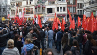 Tünel'den Galatasaray'a 'Ankara' yürüyüşü