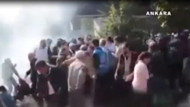 Patlama sırasında polis böyle gaz sıkmış