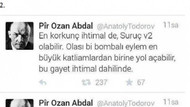 Patlamayla ilgili tweet atanlardan biri yakalandı