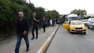 Tekstilkent'teki kaza trafiği felç etti