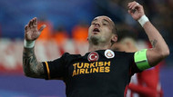 Sneijder, Galatasaray'ı topa tuttu!