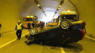 Tantavi Tüneli'nde kaza: 2 yaralı