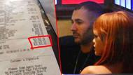 Benzema ve Rihanna'nın 30 bin dolarlık yemeği