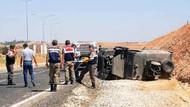Mardin'de askeri araç devrildi: 10 asker yaralı