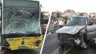 Lüks cip Metrobüsle çarpıştı! 5 yaralı