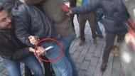 Karanfil bırakanlara bıçak çekti