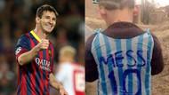Poşetten Messi formasıyla dünya gündeminde