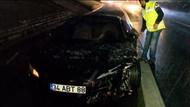 Fenerbahçeli Caner'in aracı takla attı