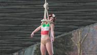FEMEN üyesi, Ruhani'yi protesto için kendini astı