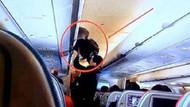 THY uçağında hırsızlık yapmaya çalışan Çinli şok etti