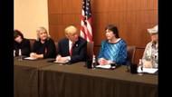 Trump, Bill Clinton'ın taciz ettiği kadınlarla basın toplantısı yaptı