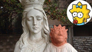 İsa heykeli restorasyonu Simpson'a benzetildi