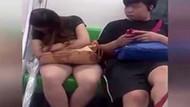 Metro tacizcisi kamerada! Genç kızın bacağına...