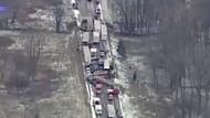 40 araç birbirine girdi - Video