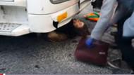 Hafriyat kamyonu genç kadının üstünden geçti