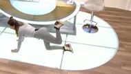 Cansu Taşkın ekranda pilates yaptı