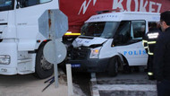 Çevik Kuvvet minibüsü TIR'a çarptı: 11 polis yaralı