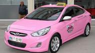 Kadınlara özel pembe taksi