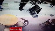 Beyoğlu'ndaki binanın çökme anı kamerada