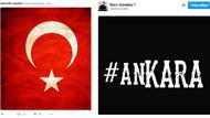 Ankara patlamasına ünlülerden tepkiler