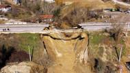 Karabük'te sel: Karayolu çöktü, mahalle su altında