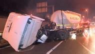 İstanbul'da kaza: D-100 karayolunda trafik kilitlendi!