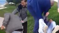 MHP İlçe Başkanı polise yardım ediyoruz deyip tekme tokat dövdü