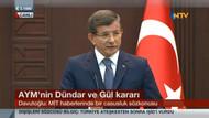 Erdoğan ve Davutoğlu aynı anda konuşunca.. Haber kanallarının zor anları