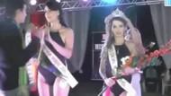 Brezilya'da güzellik yarışmasında taç skandalı!