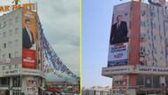 Davutoğlu posteri kaldırıldı, Erdoğan posteri asıldı!