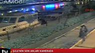 Yoğurtçu Parkı'nda kamyonun altında kalan Şule'nin son anları kamerada
