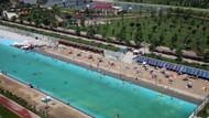 Denizi olmayan Eskişehir'de plaj sezonu açıldı