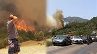 Tatil cenneti Adrasan'da dev yangın! CANLI