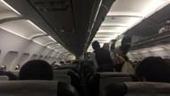 Patlamanın ardından yolcular saatlerce uçaklarda bekledi