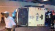 Çevik Kuvvet otobüsü devrildi, ağır yaralılar var!