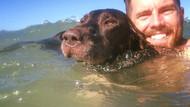 Genç adam kansere yakalanan köpeğiyle ülkeyi geziyor