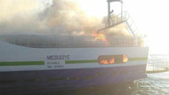 Son Dakika: Lapseki-Gelibolu feribotunda yangın!
