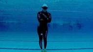 Milli sporcu Sertan Aydın dünya rekoru için nefesini tuttu