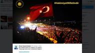 Cumhurbaşkanı Erdoğan'dan Hakimiyet milletindir paylaşımı