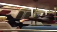 Metroda kadın kavgası