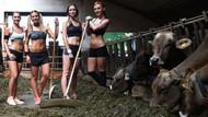 Alman kadın çiftçilerin algıları yıkan seksi pozları!