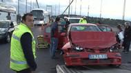 İstanbul'da Fatih Sultan Mehmet Köprüsü'nde zincirleme kaza: 2 yaralı