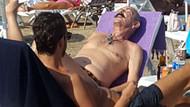 Cemil İpekçi leopar desenli mayosuyla halk plajında!