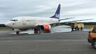 Faciadan dönüldü: SAS uçağının iniş takımları iniş anında alev aldı!