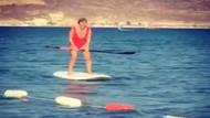 Saba Tümer'in sörf tahtasıyla imtihanı!