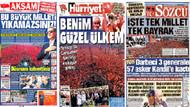 Yenikapı'daki tarihi miting gazete manşetlerine nasıl yansıdı?