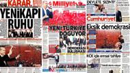 Gazeteler Yenikapı'daki tarihi mitingi nasıl gördü?