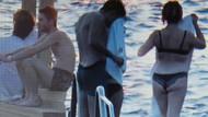 Şebnem Bozoklu ve sevgilisi iç çamaşırıyla denize girdi!